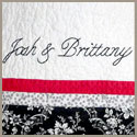 Josh and Brittany's First Wedding Anniversary embroidery detail