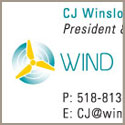Wind Solutions     business card