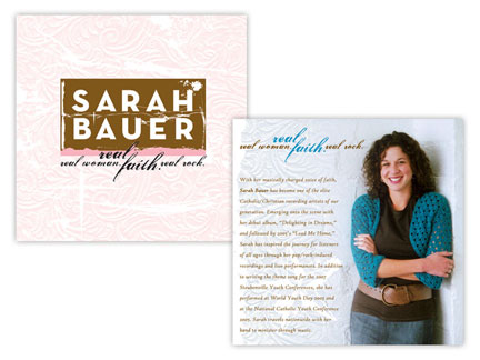 Sarah Bauer     CD packaging and photography